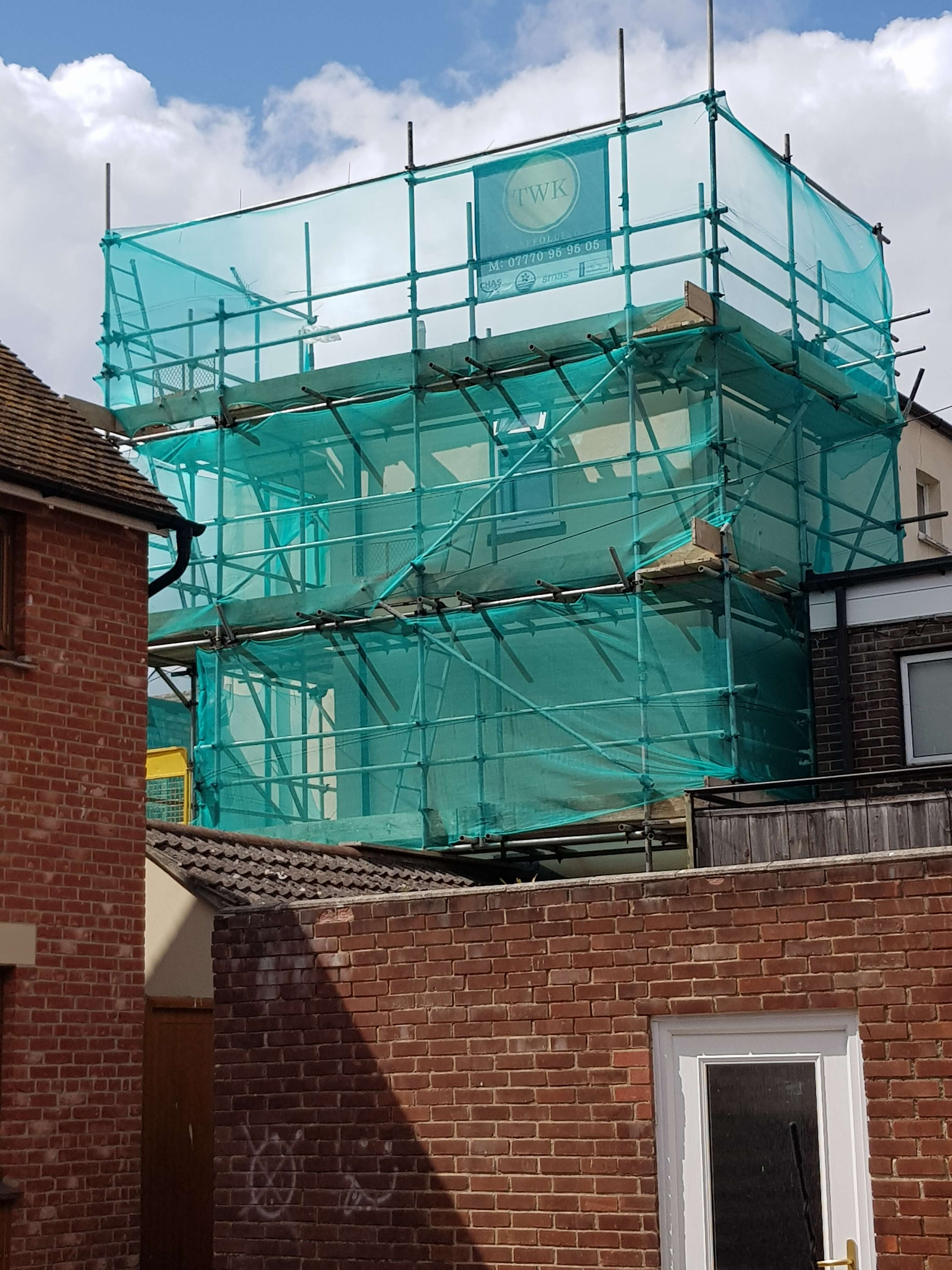 Poole high street scaffolding