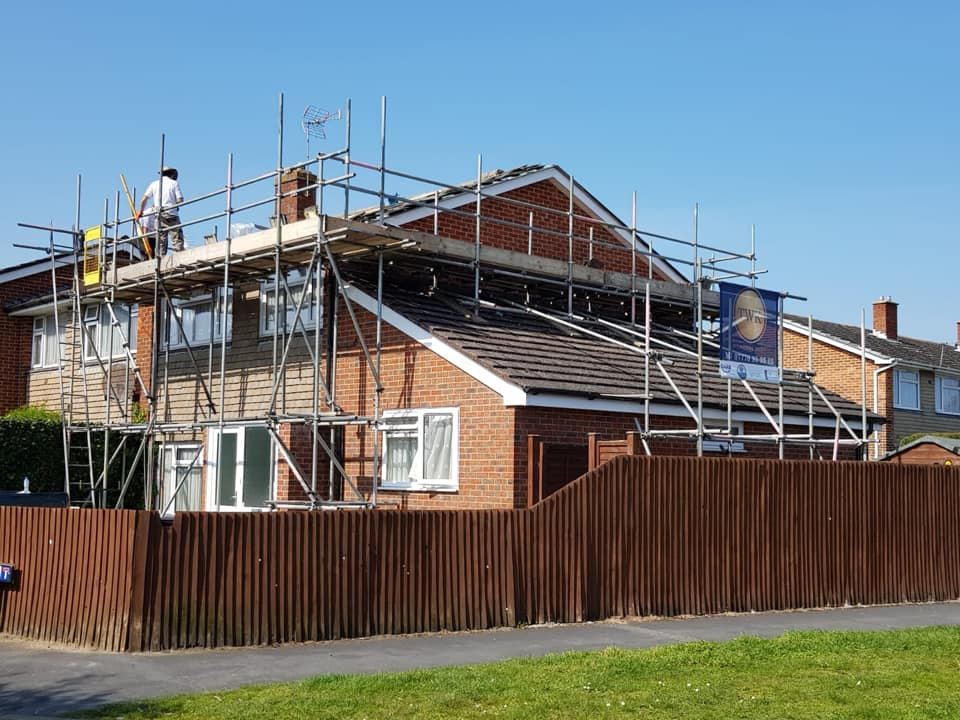 Residential house with TWK Scaffolding