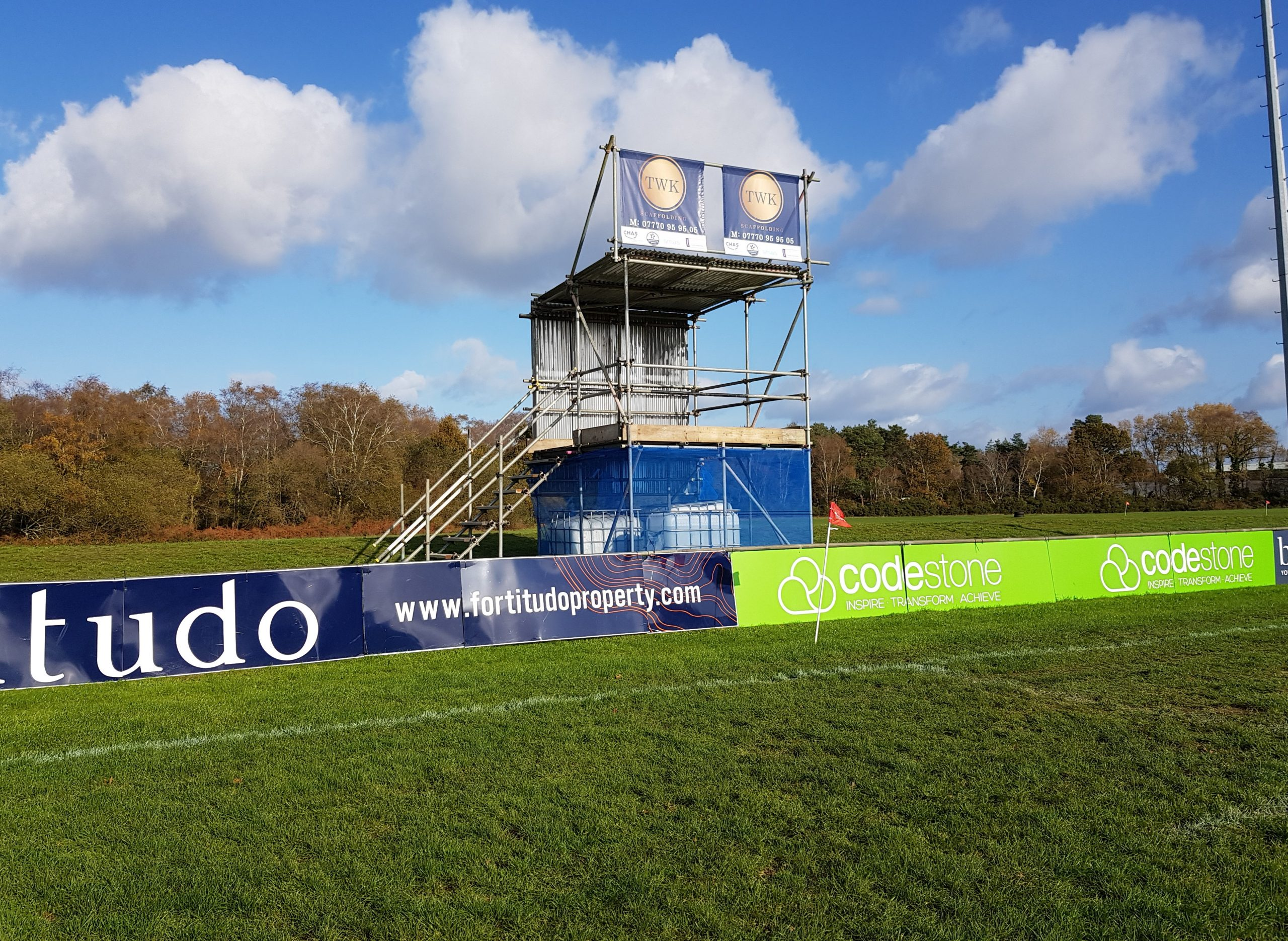 Bournemouth Rugby Club New Temporary Officials Stand